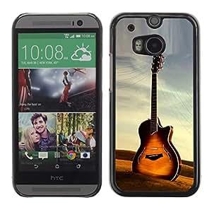 TopCaseStore / la caja del caucho duro de la cubierta de protección de la piel - Guitar - HTC One M8