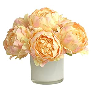 RG Style Silk Peonies in Decorative Vase Artificial Floral Arrangement