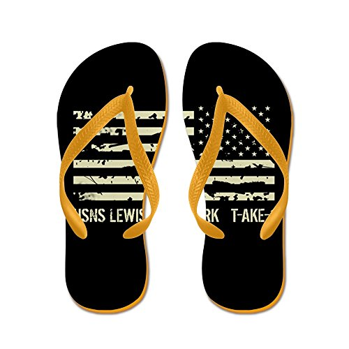 CafePress USNS Lewis and Clark - Flip Flops, Funny Thong Sandals, Beach Sandals Orange