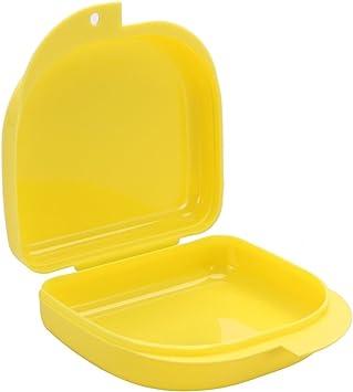 Protector bucal caja para retenedores ortodoncia férulas deporte aparatos dentales dentaduras y más (Amarillo): Amazon.es: Salud y cuidado personal