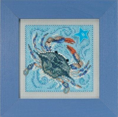 Crab Beaded Counted Cross Stitch Kit Mill Hill 2018 Buttons