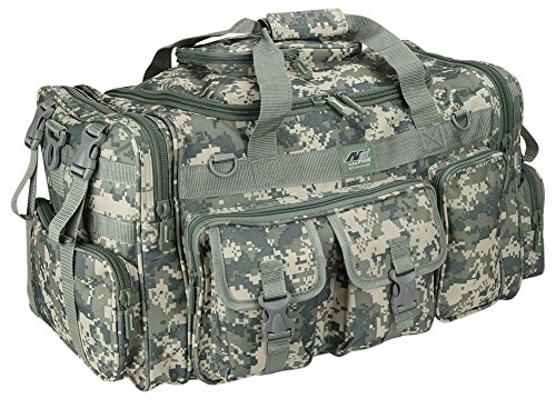 (Mens 26 Inch ACU Digital Camo Convertible Backpack Duffel Molle Military Tactical Gear Shoulder Bag)
