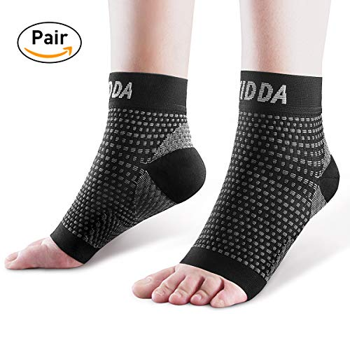 AVIDDA Ankle Brace for Men Women Pair Plantar Fasciitis Socks with Arch Support Compression Ankle Support Foot Sleeve for Achilles Tendon Support Swelling Eases Heel Pain Relief Black Small