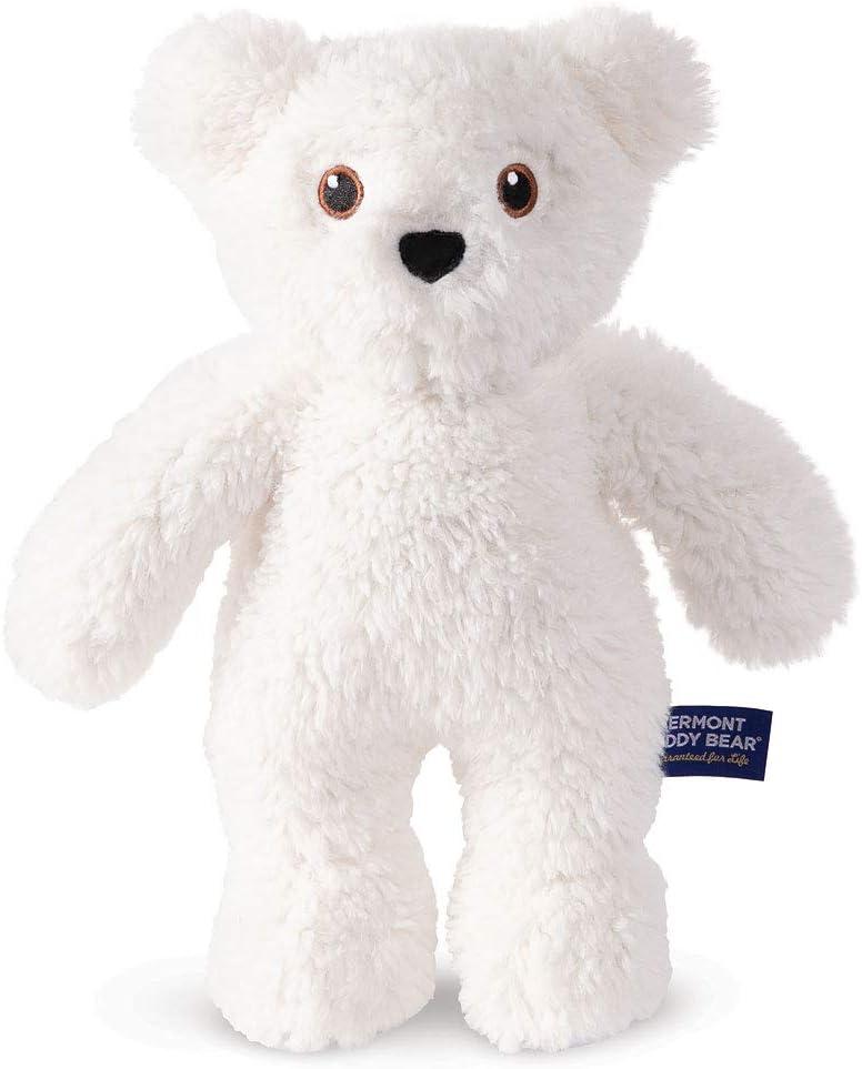 Vermont Teddy Bear Small Stuffed Animals - Stuffed Teddy Bears, 14 Inch, White, Take Along Teddy