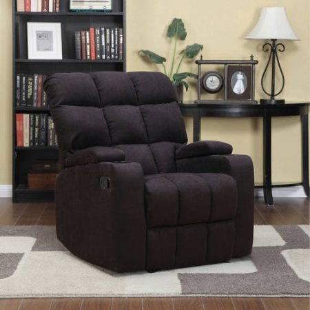Handy Living ProLounger Storage Arm Cup Holder Wall Hugger Microfiber Recliner Black