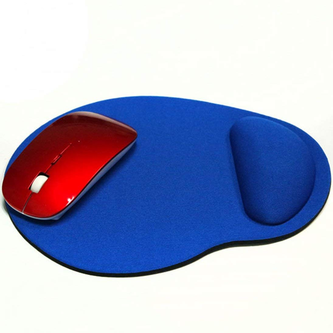 Lightweight Ergonomic Memory Foam Pain Relief Non-Slip PU Base Mouse Mat for Home Office Work Baynne-CAa2 Mouse Pad with Gel Wrist Rest
