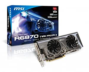 MSI Radeon HD 6870 1 GB 256-bit GDDR5 PCI Express 2.1 x16 HDCP Ready CrossFireX Support Video Card with Eyefinity R6870 Twin Frozr II