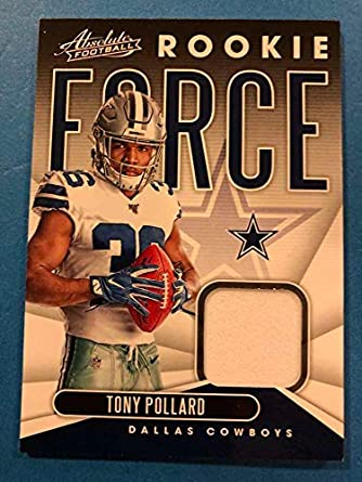 separation shoes a9f04 e26aa Amazon.com: 2019 Absolute Football Rookie Force Relics #30 ...