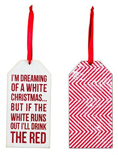 (I'm Dreaming of a White Christmas Wine Bottle Tag)