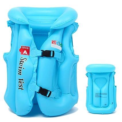 Chaleco de natación hinchable para niños, chaleco salvavidas ...