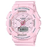 Ladies' Casio G-Shock S-Series Light Pink Step Tracker Watch GMAS130-4A