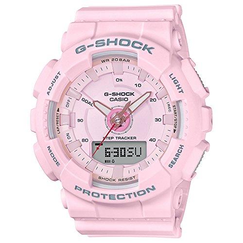 Ladies' Casio G-Shock S-Series Light Pink Step Tracker Watch GMAS130-4A