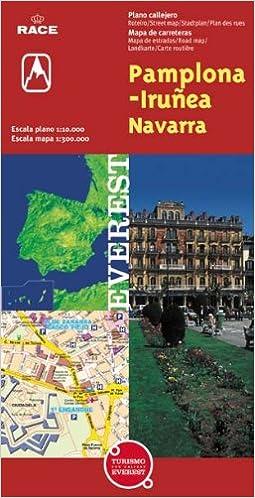 Pamplona Iruna Navarra Plano Callejero Mapa De Carreteras