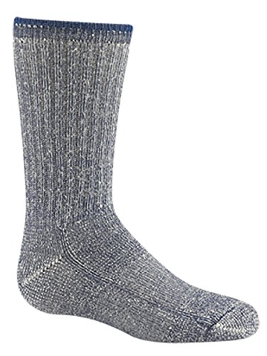 Wigwam Kid's Merino Wool Comfort Hiker Socks,Toddler 4-7 with a Helicase brand sock ring by Helicase