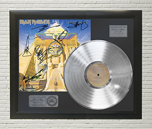 Iron Maiden - Powerslave Framed Platinum LP Signature Display