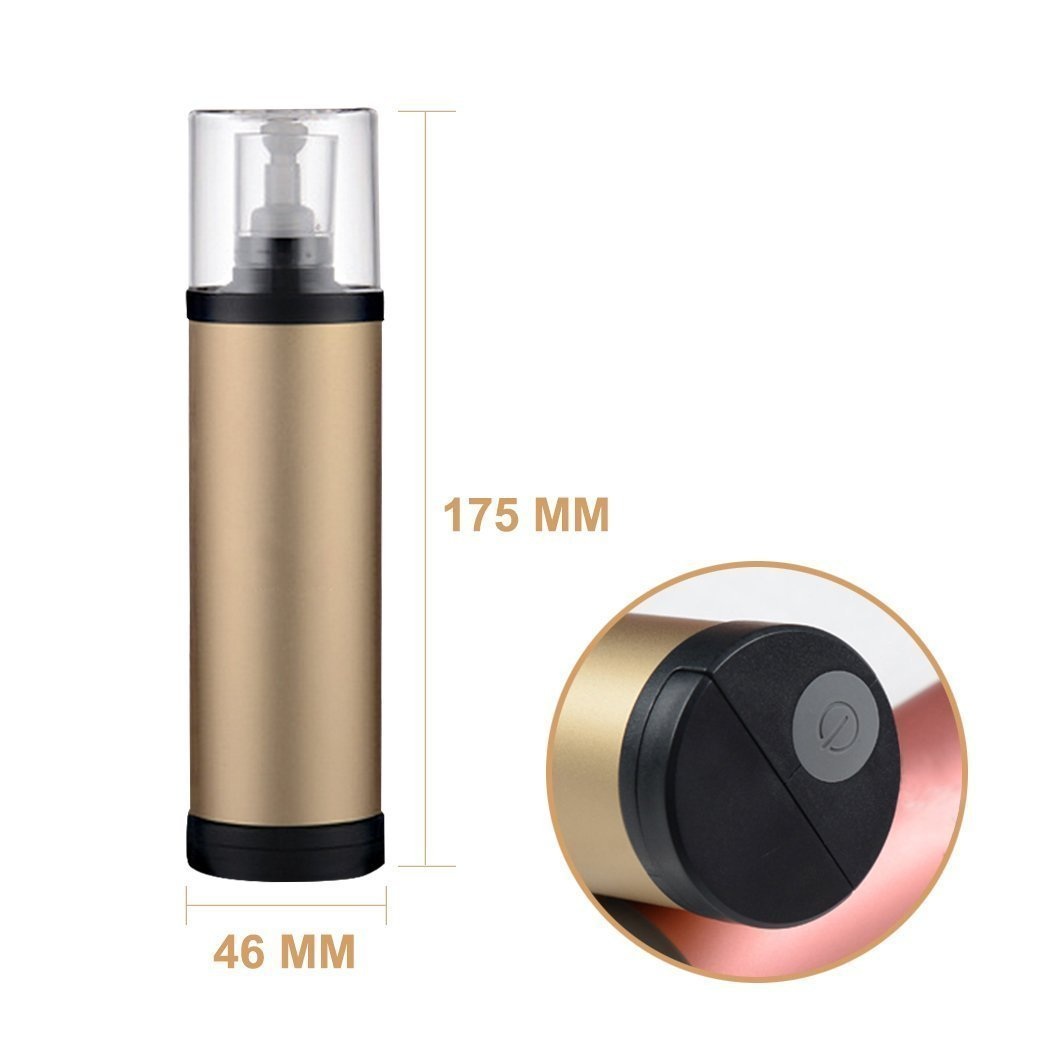 SZCHENGCI Portable Electronic Washing Machine Stain Remover Hand Clothes Washer Mini Handy Washer Handheld Laundry Stick for Office Car Home Outdoor Travel (Gold)