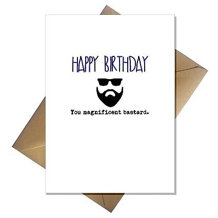 Rude barba tarjeta - feliz cumpleaños You Lima de ...