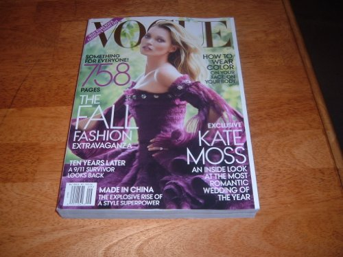 Vogue Magazine, September 2011-Kate Moss & 758 Pages of the Fall Fashion Extravaganza. Also, 9/11, Ten Years Later a survivor looks - Kate Moss Vogue