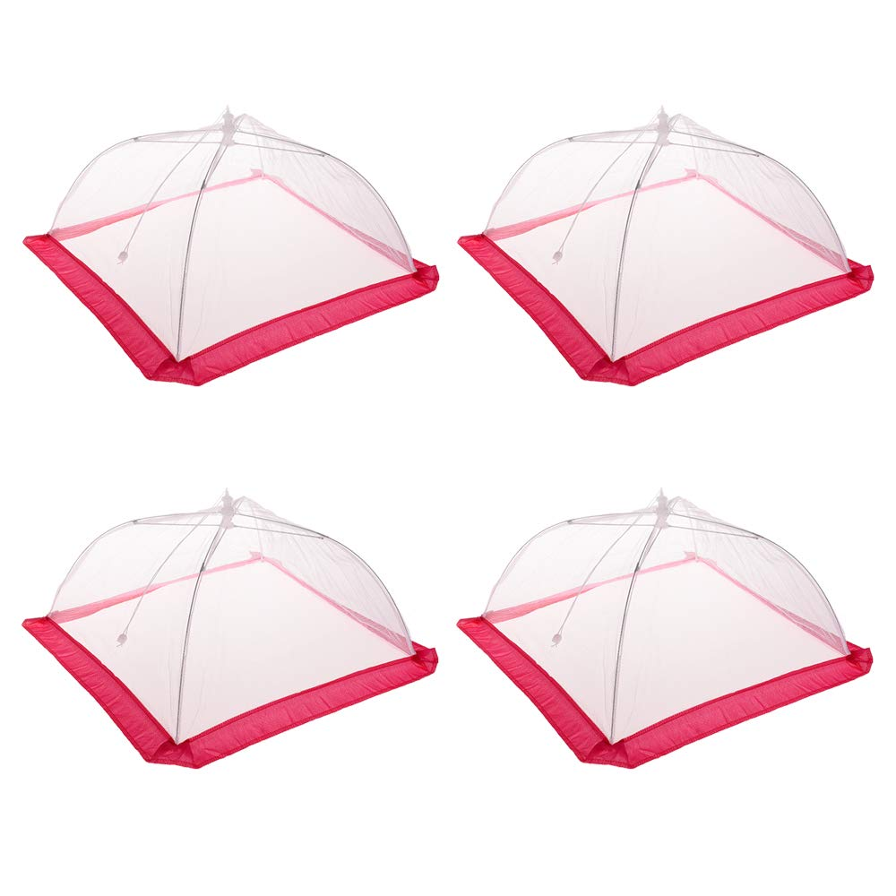 Veahom 4 Packs 17 inch Mesh Food Covers Tent Protectors for Parties, Picnics, BBQs, Reusable and Collapsible Pop Up Food Cover, Ideal for Indoor and Outdoor Use
