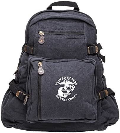United States Marine Corps Army Sport Heavyweight Canvas Backpack Bag