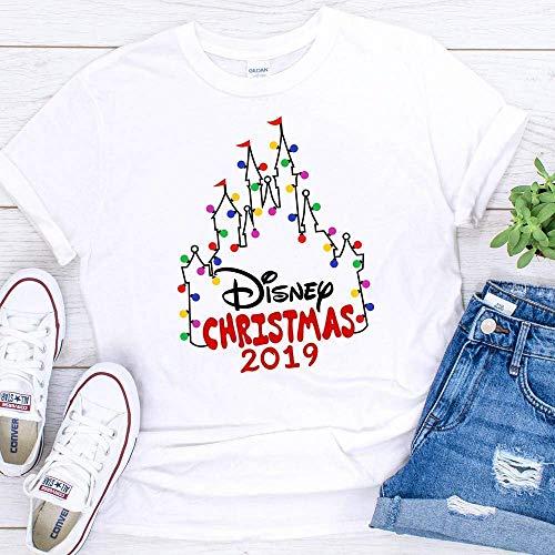 Disney Christmas T-Shirts Matching Vacation Apparel Shirts for Family Men Women Girls Boys ()