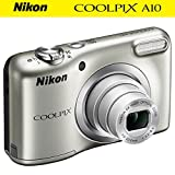 Nikon COOLPIX A10 16.1MP 5x Zoom NIKKOR Glass Lens Digital Camera (26518B) Silver - (Certified Refurbished)