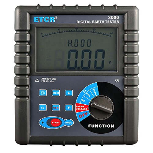 ETCR3000 Digital Earth Resistance Meter Ground Resistance Testing with RS232 Interface Data Storage and Data Read Function by VETUS INSTRUMENTS