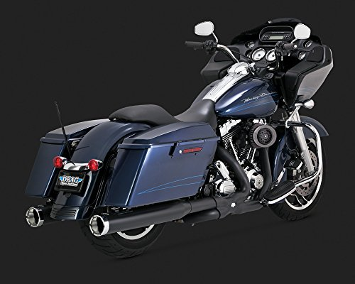 Pipes Header Dual - Vance and Hines Power Duals Header Pipes for Harley Davidson 2009-2016 Touring- One Size