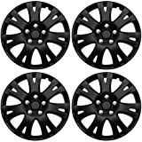 16 truck hub cap set - ABS Plastic Aftermarket Wheel Cover Matte Black Special Finish 16 Inch Hubcaps 4 Pieces Universal fit most 16