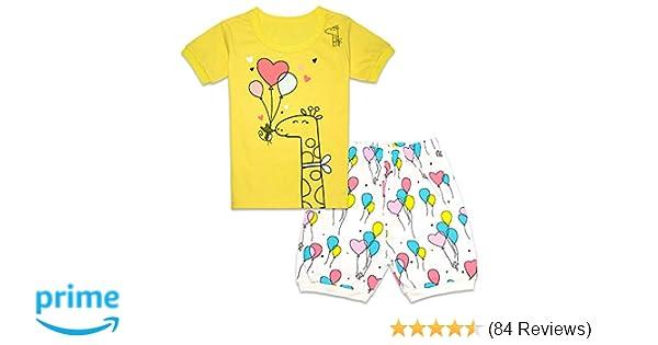 be26a94d2a53 Amazon.com  Tkala Fashion Christmas Girls Pajamas Children Clothes Set 100%  Cotton Little Kids Pjs Sleepwear  Clothing