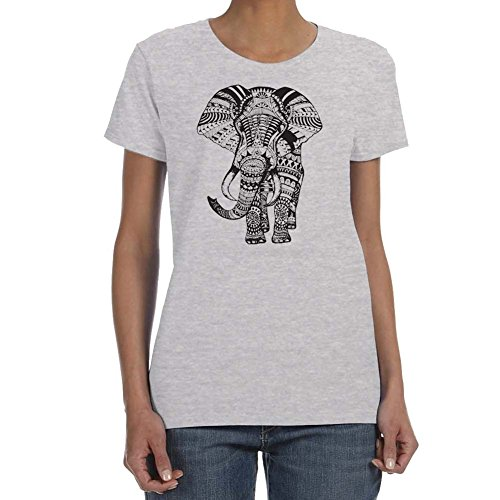 Women's SUPER COOL ELEPHANT Sport Grey T-shirt