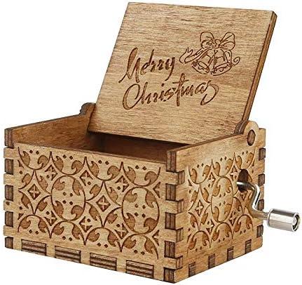 DAYOLY Caja de música de Madera, manivela de Mano, Caja Musical Antigua Tallada, niños, Amigos: Amazon.es: Hogar