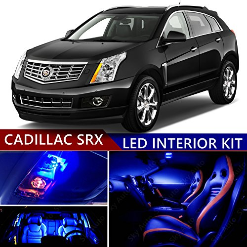 CADILLAC SRX 2010-2016 LED Premium Blue Light Interior Package Kit ( 22 pcs )