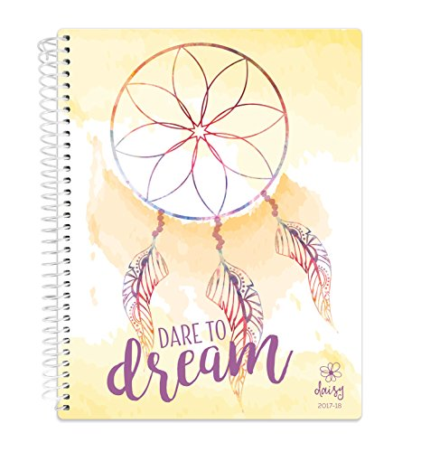 """Daisy Student Planner 2017-18 Academic Year Daily Planner August 2017 Through July 2018 Elementary School Middle School Planner 7"""" x 9"""" - Dream Catcher"""