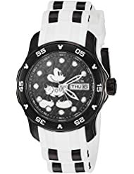 Invicta Womens Disney Limited Edition Quartz Stainless Steel and Silicone Casual Watch, Color:Two Tone (Model...
