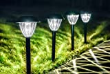 Grant Park 8-Pack Bright LED Black Solar Lights for Outdoor Landscape Yard Pathway Garden Lighting