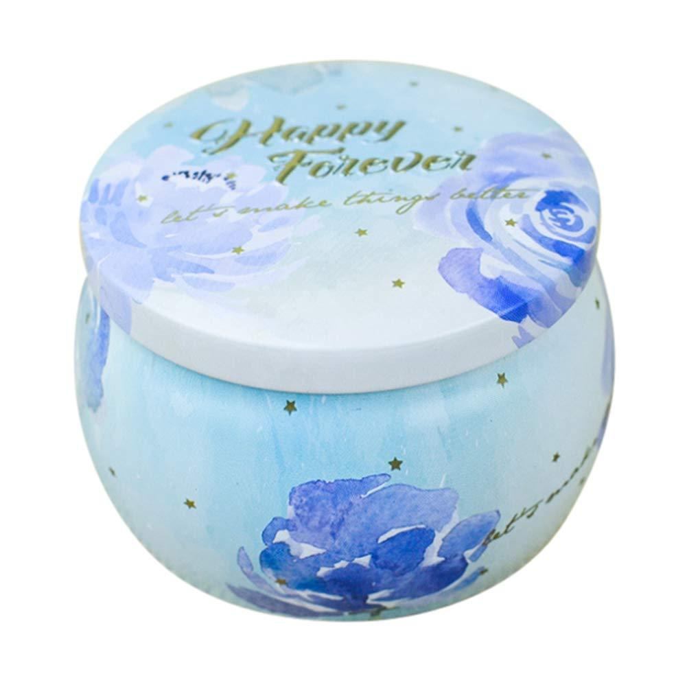 Trommel Stil Runde Container Mini Box f/ür DIY Kerzen Floral gemusterte Metallblechblech Leere Dosen Party Favors und Gastgeschenke S/ü/ßigkeiten Trockenlagerung Kaffee Gew/ürze