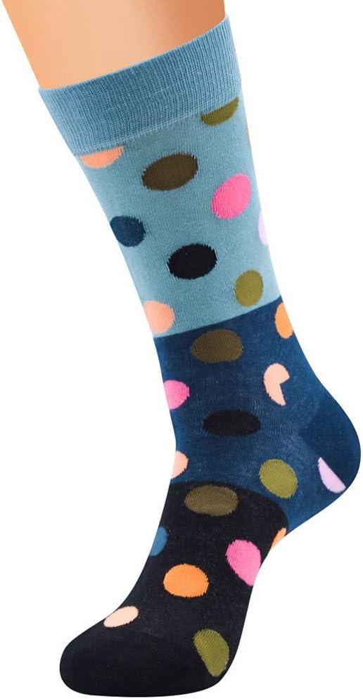 Womens Cotton Socks Dot Print Crew Socks Colorful ColorBlock Socks Tube Comfortable Dress Socks