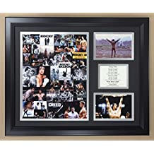 """Rocky Balboa Franchise Mosaic - Framed 18""""x22"""" Double Matted Photos - Legends Never Die, Inc."""