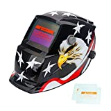 Tekware Welding Helmet Solar Power Auto Darkening Hood Welder Mask Breathable Grinding Helmets with Adjustable Shade Range