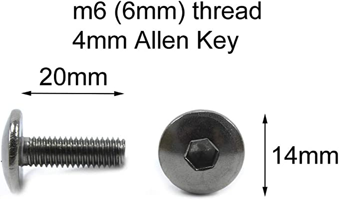 Stainless Steel Pan Button Head 14mm Pack of 10 m6 6mm x 20mm Motorcycle Fairing Bolts Bolts by Speedy Fasteners