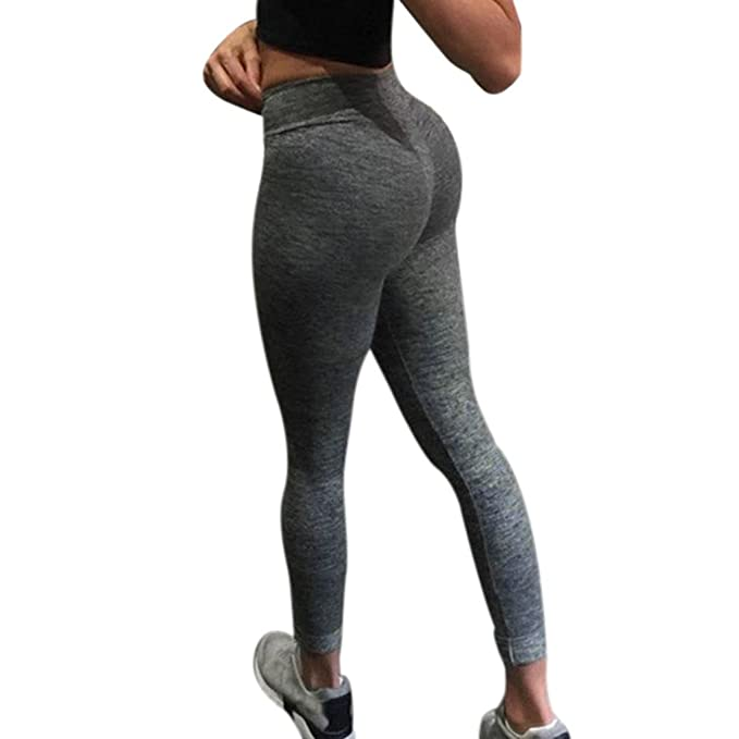 ??Damen Leggings Sport Leggins Jogginghose Laufhose Grau Damenmode Training Leggings Fitness Gym Running Yoga Sporthose