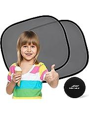 Sonnenschutz Auto Baby (2 Stück) - Sonnenblende Auto mit UV Schutz für Kinder