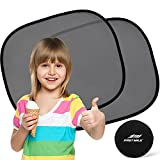 Car Sun Shade (2 Pack) - Universal Static Cling Sunshade for Baby - Protect Your Child or Pet from UV rays! Easy installation without suction cups - 100%