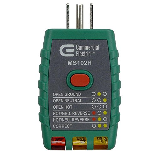 Commercial Electric Tools GFCI Outlet Tester - Green (Commercial Electric Tools)
