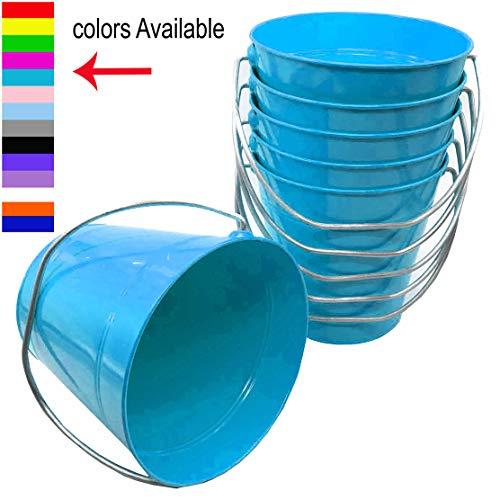 Italia 6-Pack Metal Bucket 1.5 Quart Color Turquoise Size 5.6 X 6