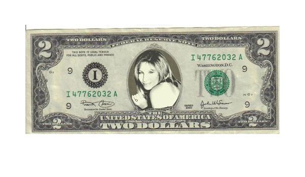 Barbra Streisand $2 Dollar Bill Mint Rare $1…