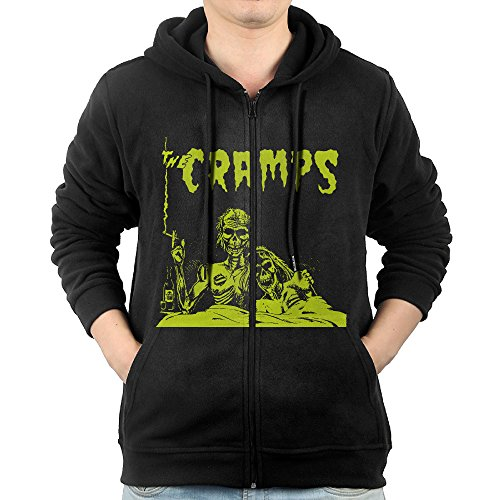 GD-One Mens The Cramps Leisure Classic Hoodie Hooded Sweatshirt Casual Style L Black