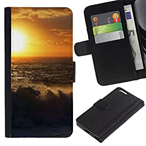 Ihec-Tech / Flip PU Cuero Cover Case para Apple Iphone 6 PLUS 5.5 - Sunset Beautiful Nature 54