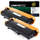 2-Pack LINKYO Replacement Toner Cartridges for Brother TN450 TN-450 TN420 (Black, High Yield)